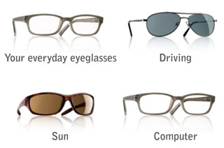 Glasses for driving, computer, sun glasses, etc