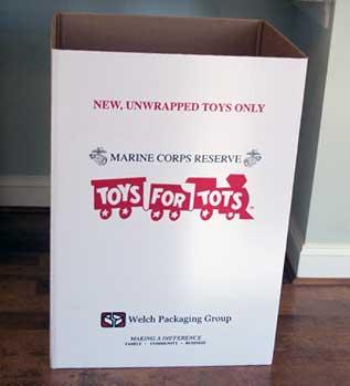 toys for Tots drop off box