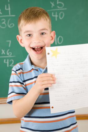 Boy with Good Grade
